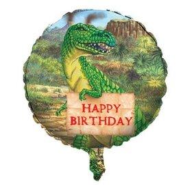 "Foil Balloon - Diggin for Dinos Happy Birthday - 18"""