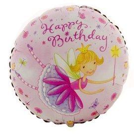 """Foil Balloon - Garden Fairy Happy Birthday - 18"""""""