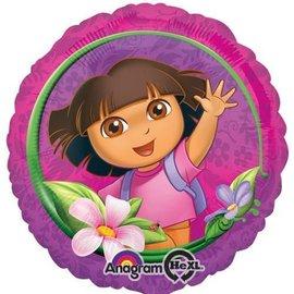 "Foil Balloon - Dora the Explorer Happy Birthday - 18"""
