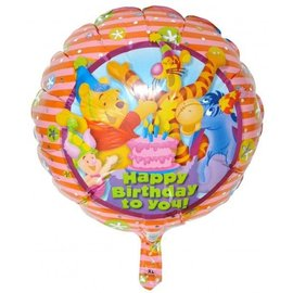 Foil Balloon - Winnie the Pooh Happy Birthday - 18""