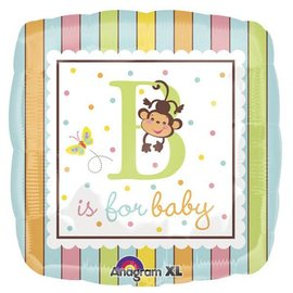"""Foil Balloon - B is for Baby Monkey - 18"""""""