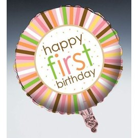 Foil Balloon - Sweet at One Girl Birthday - 18""
