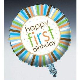 "Foil Balloon - Sweet at One Boy Birthday - 18"""