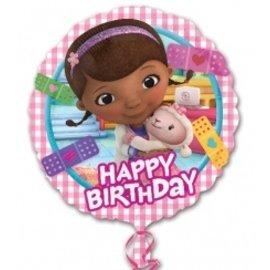 "Foil Balloon - Doc McStuffins Happy Birthday - 18"""