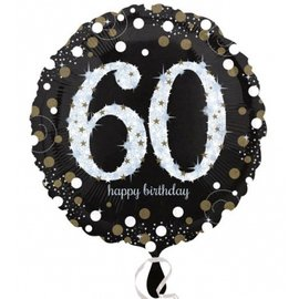 Foil Balloon - 60th Birthday Sparkle - 18""