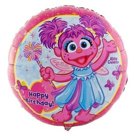 Foil Balloon - Abby Cadabby Happy Birthday - 18""