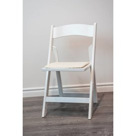 Rental-White Wooden Folding Chair-1Day