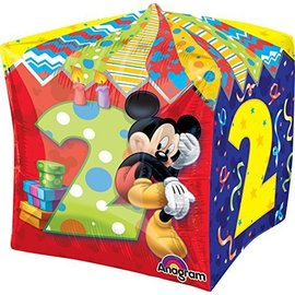 """Foil Balloon - Cube - Mickey Mouse 2nd Birthday - 15""""x15"""""""