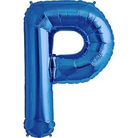 """Foil Balloon - Blue P - 34"""""""