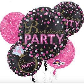 Foil Balloon Bouquet - Bachelorette Party - 5 Balloons - 2.3ft