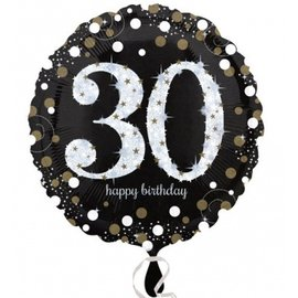 Foil Balloon - 30th Birthday Sparkle - 18""