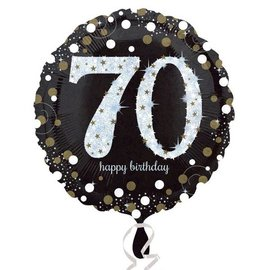 Foil Balloon - 70th Birthday Sparkle - 18""