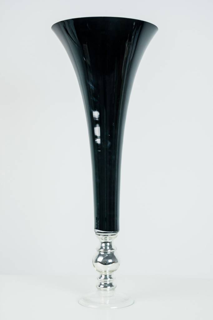 Rental Blackwhite Tall Flute Vases 1day Victoria Party Store