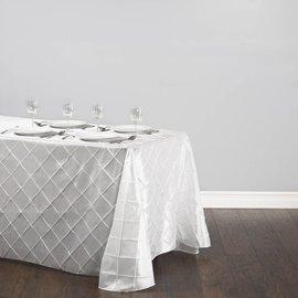 Rental-Rectangular Table Cloth-Pintuck White-90''x156''-1Day