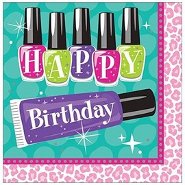 Napkins-LN-HBD Sparkle Spa Party-16pk-2ply- Final Sale