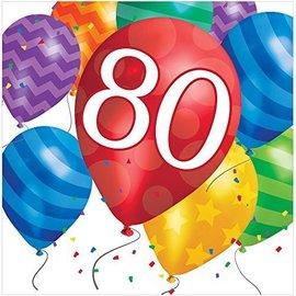 Napkins-LN-80th Balloon Blast-16pk-2ply