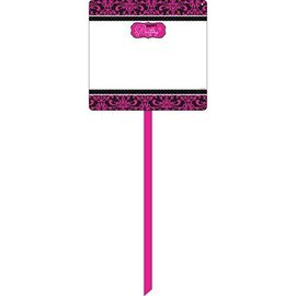 "Yard Sign-Plastic-Customizable-Born to be Fabulous Happy Birthday-1pkg-14""x15"""
