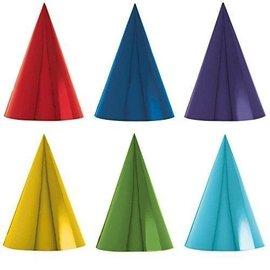 Hats-Cone-Assorted Colors-12pkg-Paper