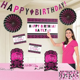 Decorating Kit-Customizable-Fabulous Happy Birthday-8pcs