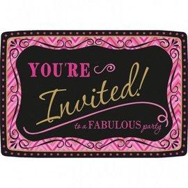 """Invitations-Born to be Fabulous-20pkg-4.5""""x6.5"""""""