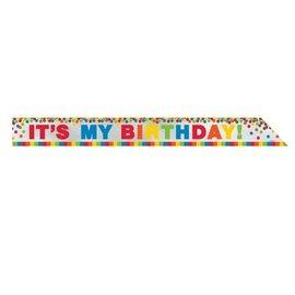 """Sash-Foil-Rainbow It's My Birthday-1pkg-3""""x60"""""""