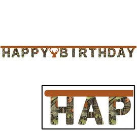 Jointed Banner-Hunting Camo Happy Birthday-1pkg-8.5ft