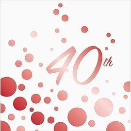 Napkins-LN-Sparkle Shine 40th Anniversary-16pk-2ply