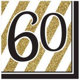 Napkins-LN-60 Black & Gold-16pk-3ply