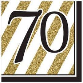 Napkins-LN-70 Black & Gold-16pk-3ply