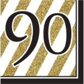 Napkins-LN-90 Black & Gold-16pk-3ply - Discontinued