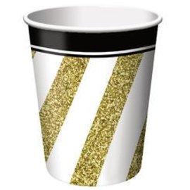 Cups-Black&Gold-Paper-9oz-8pk