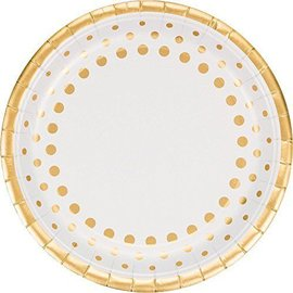 Plates-DN-Sparkle Shine Gold-8pk-Paper - Discontinued