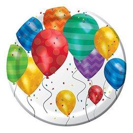 Plates-BEV-Balloon Blast-8pk-Paper