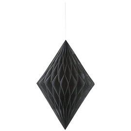Paper Hanging Decor-Honeycomb Diamond-Black-14''
