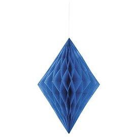 Paper Hanging Decor-Honeycomb Diamond-Royal Blue-14''