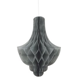 Paper Hanging Decor-Honeycomb Chandler-Silver-14''