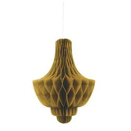 Paper Hanging Decor-Honeycomb Diamond-Gold-14''