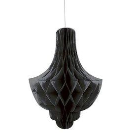Paper Hanging Decor-Honeycomb Chandler-Black-14''