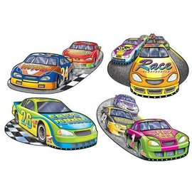 Cutouts-Race Car-16''-4pk