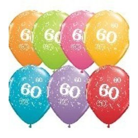 Latex Balloon-60 A Round Assortment-1pkg-11""