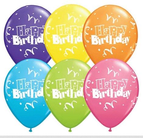 latex balloon birthday streamers stars assortment 1pkg 11