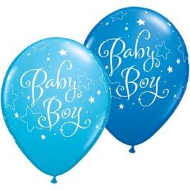 "Latex Balloon-Baby Boy Stars Assortment-1pkg-11"""