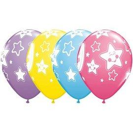 "Latex Balloon-Baby Moon & Stars Assortment-1pkg-11"""