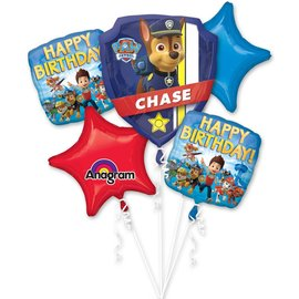 Foil Balloon Bouquet - Paw Patrol - 5pc