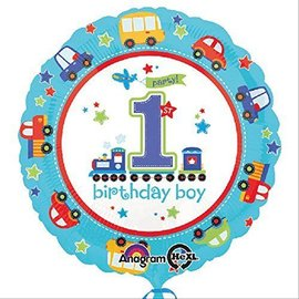 Foil Balloon - 1st Birthday Boy - 18""