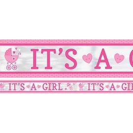Foil Banner-It's a Girl-25ft-1Pk