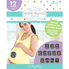 Stickers-Weeks Until Baby-12pk