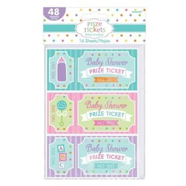 Prize Tickets-Baby Shower-16 sheets