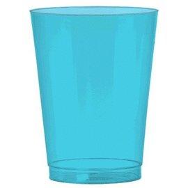 Plastic Clear Caribean Blue Cups-72pk-10oz
