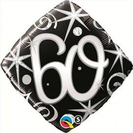 """Foil Balloon - 60th - 18"""""""